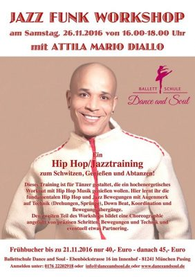 Jazz Funk Workshop mit Attila Mario Diallo